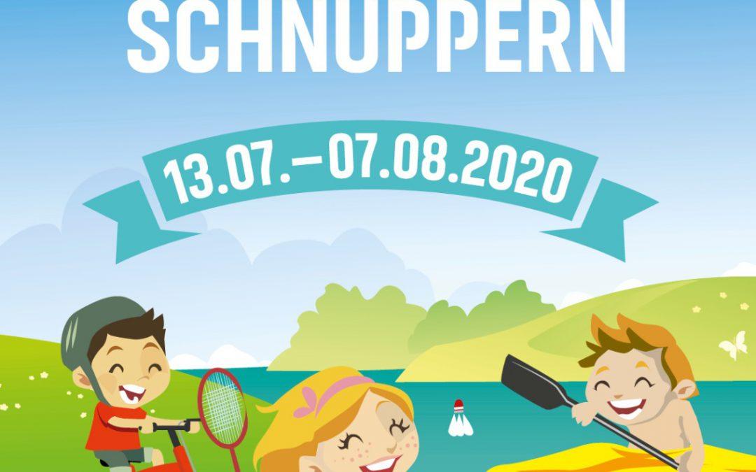 Sommersportschnuppern 2020 – SCHNUPPERTAUCHEN